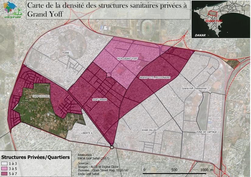DENSITE DES STRUCTURES SANITAIRES PRIVEES